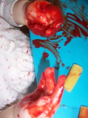 Fingerpaintinglillys_birthday_week_
